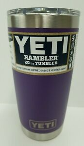 Yeti Rambler Tumbler 20 oz. Peak Purple New, PRIORITY shipping!