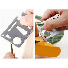 11 in1 Multi Tools Hunting Survival Camping Pocket Military Credit Card Knife