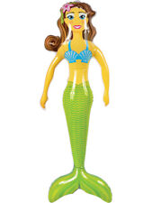 Under The Sea Mythical Beautiful Brunette Mermaid Inflatable 36""