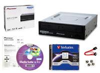 Pioneer BDR-212UBK Internal 16x Blu-ray Writer S/W + 100GB M-DISC+Cable+Screws