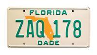 Miami Vice | Ferrari Daytona Spyder | FL ZAQ 178 | STAMPED Prop License Plate