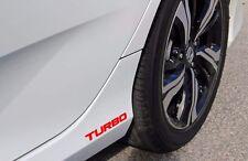 2x RED Turbo for  2016 + Honda Cars Decal Vinyl Sticker
