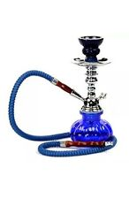 Hookah Shisha Nargila Water Pipe Bong Glass Tobacco 1 Hose Bowl Blue Black Green