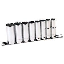 """Draper Expert® Hi-Torq® 8 Piece 3/8"""" drive 12 Pt Deep Socket Set 10 - 19mm 73182"""
