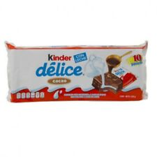 10pc Kinder Delice Milk & Cacao Chocolate 39g Bars Free Fast Shipping