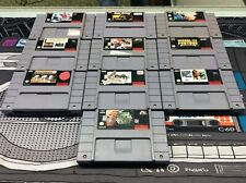 Super Nintendo Snes Sports Game Lot Of 10 W/ Wheel Of Fortune! Tested! Works!