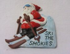 1992 Santa Claus On Skis Ski The Smokies Christmas Refrigerator Magnet