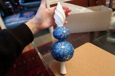 Patricia Breen Large Blizzard Finial 2-Ball Cobalt