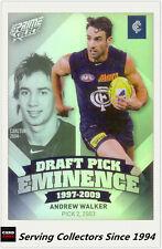 2013 Select AFL Prime Draft Pick Eminence Card DPE10 Andrew Walker (Carlton)
