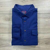 UNTUCKit Men's Long Sleeve Button Down Blue Shirt 100% Cotton Size XXL