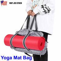 Yoga Mat Bag Shoulder Carry Strap Gym Tote Exercise Detachable Sling Bag