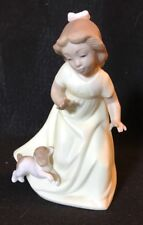 1991 Daisa Golden Memories Lladro Let's Play Tag Girl And Puppy Dog Figurine