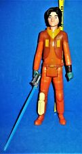 2014 Hasbro SA Lg Action Figure Rebel Ezra Bridger with Light Sword