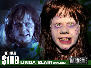 SUPREME LINDA BLAIR THE EXORCIST Painted Life Cast Life-Mask Lightweight Resin