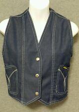 Vintage 70's Elite dark denim crop vest size 5 jr. Hipster Coachella