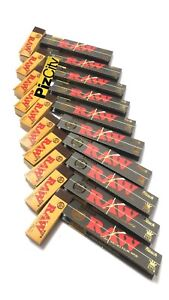 *£9.90 RAW BLACK COMBO* x10 RAW Unrefined Black King Size Papers + x10 RAW Tips