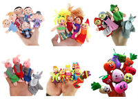 4/6/10X Family Finger Puppets Cloth Doll Educational Hand Cartoon Animals Toy LU