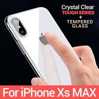 CLEAR Case For iPhone XS Max Cover Shockproof 360 Silicone Gel Protective TOUGH