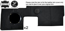 BLACK STITCH 2X FRONT DOOR CARD TRIM LEATHER COVERS FITS RENAULT ALPINE GTA V6