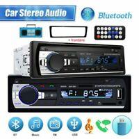 1 Din Car Radio Bluetooth Stereo FM/USB/AUX/TF In-dash Head Unit 12V MP3 Player