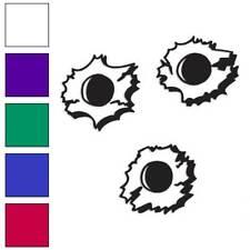 Bullet Holes Decal Sticker Choose Color + Size #129