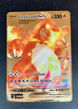 Charizard VMAX Pokemon Card Ultra Rare Gold Metal SWSH Darkness Ablaze 020/189