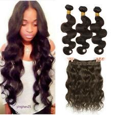 #2 Dark Brown 1/3 Bundles Brazilian Virgin Human Hair Body Wave Weave Weft Wavy
