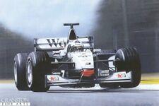 Formula one racing car  Art Print David Coulthard 1998 McLaren silvor arrow