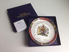"NEW IN BOX! Royal Worcester Queen Elizabeth II Diamond Jubilee 5"" Pin Dish Tray"