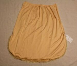 Mancyfit Women's Lace Trimmed Under Skirt Half Slip CL8 Nude Medium NWT
