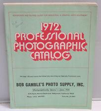 Bob Gamble's Photo Supply Hollywood CA 1972 Pro Product Guide Catalog F32
