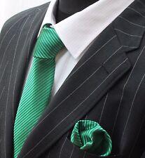 Tie Cravatta Con Fazzoletto Verde (Bright metallico)