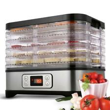 Food Dehydrator 6-Tier Stainless Steel Fruit Jerky Meat Dryer Blower Commercial#