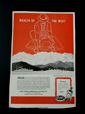 "1944 RAINIER BEER SEATTLE BREWING Ad Slick ""Wealth of the West"" ALASKA #50RED"
