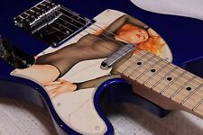 Vintage Album Cover Art Fender Telecaster Cars Candy-O Record pin-up Pickguard