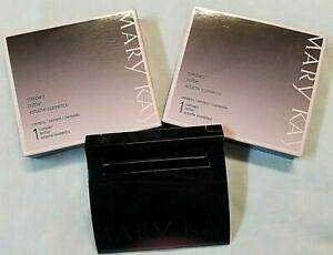 MARY KAY COMPACT 017362  BLACK WITH MIRROR