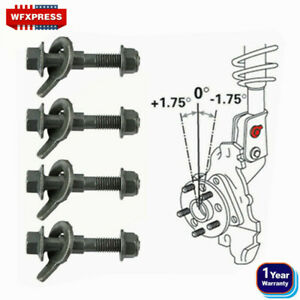 12mm Adjustable Camber Correction Alignment Kit for Front Wheels Cam Bolts 4Kits