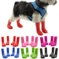 Waterproof Pet Dog Rain Boots Protective Anti-Slip Wellies Booties Sock 4pcs/set