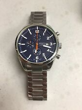ESQ MOVADO CATALYST  CHRONOGRAPH BLUE DIAL STAINLESS STEEL  WATCH