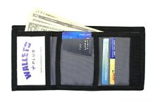 Nylon Trifold Credit Card Wallet with ID window - Gray