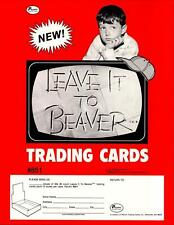 Leave it to Beaver Trading Cards Dealer Sell Sheet Sale Ad Pacific 1983