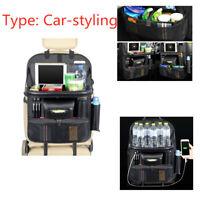 Carbon Fiber Car Seat Back Storage Bag Car Storage Box 4 USB Charging Port