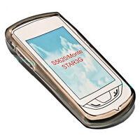 Silikon TPU Handy Hülle Cover Case Schutzhülle in Smoke für Samsung S5620 Monte