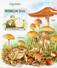 Guinea-Bissau 2015 MNH Mushrooms 1v S/S Nature Natterjack Toads Cogumelos