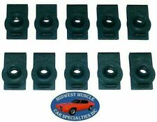 Ford Lincoln Mercury Factory Correct #10-24 Screw Bolt U Clip Panel J Nut 10pc L