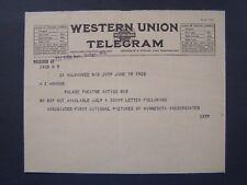 Movie Billhead Western Union Tele 1922 My Boy Mathilde Brundage Jackie Coogan