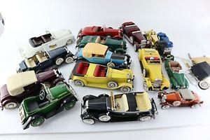 Lot of 16 Vintage Hubley Diecast Scale Model Cars Rolls-Royce Roadster & More