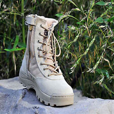 Men Army Tactical Leather Combat Military Ankle Boots Comfort Work Desert Shoes