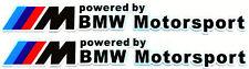 X2 BMW M Motorsport 2D Aufkleber Sticker M3 M5 M6 E30 E36 E46 E59 E90 *NEU*