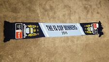 Manchester City FA Cup Winners Vintage Football Club Scarf Soccer Bufanda  0704